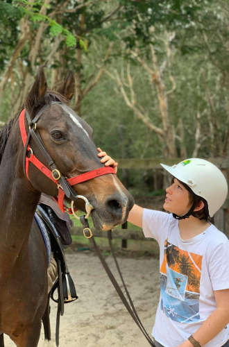 boy-horse-camping